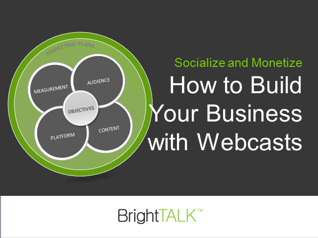 Socialize and Monetize: Building Your Business with Webcasts