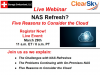 NAS Refresh? - 5 Reasons to Consider the Cloud