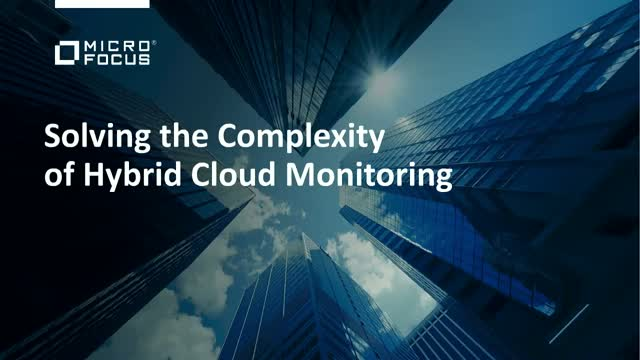 Solving the Complexity of Hybrid Cloud Monitoring