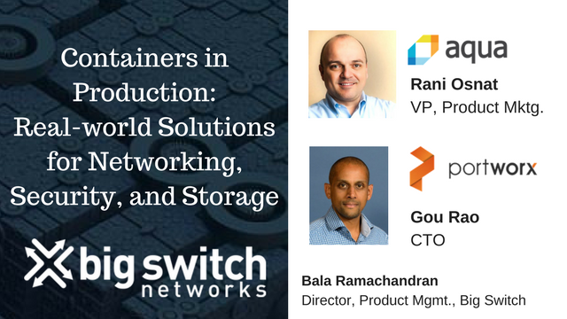 Containers: Real-world Solutions for Networking, Security, & Storage