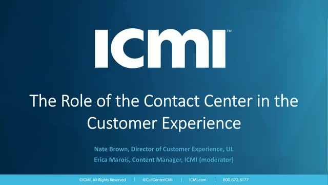 The Role of the Contact Center in the Customer Experience