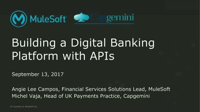 Building a Digital Banking Platform with APIs