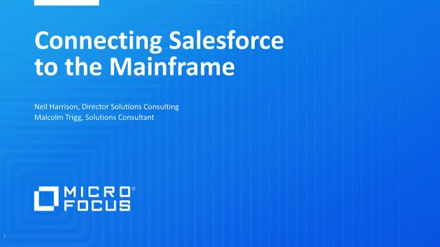 Connecting Salesforce to the Mainframe