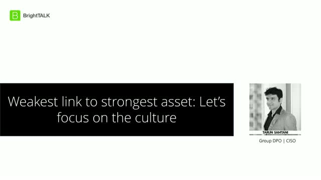 Weakest Link to Strongest Asset: Let's Focus on the Culture