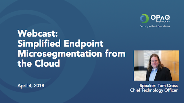 Simplified Endpoint Microsegmentation from the Cloud