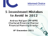 5 investment mistakes to avoid in 2012