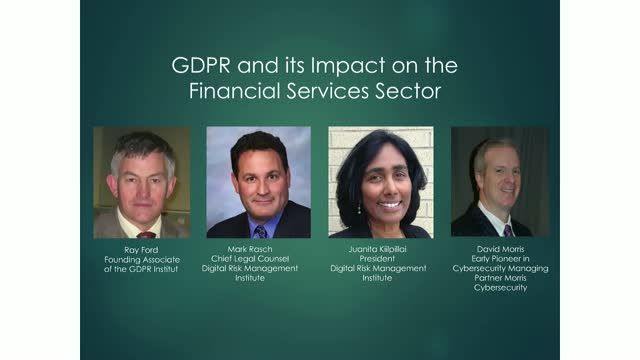 GDPR and its impact on the Financial Services Sector