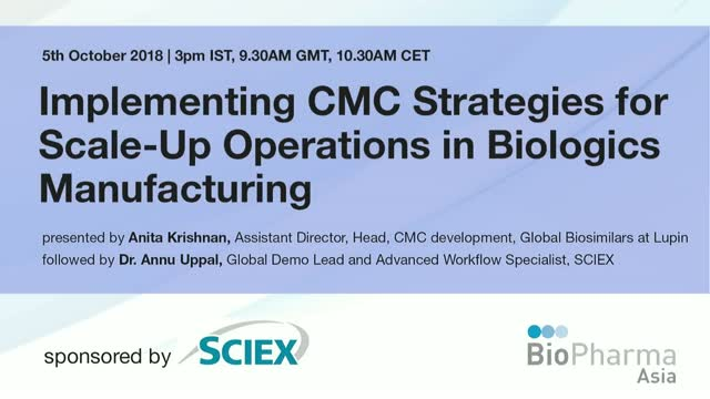 Implementing CMC Strategies for scale-up operations in biologics manufacturing