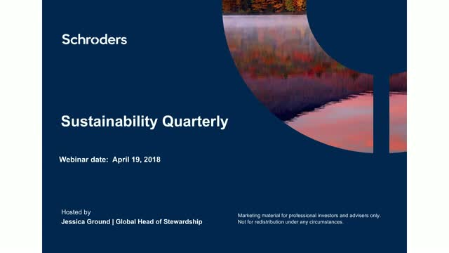Sustainability Quarterly - Focus on Alternatives and Private Equity