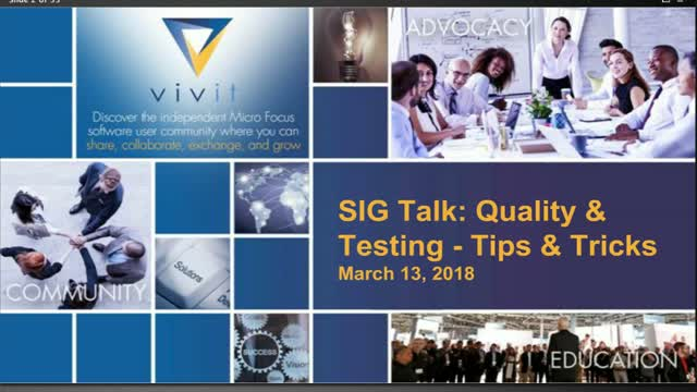 Quality & Testing SIG Talk Series: Tips & Tricks [Complete Edition]