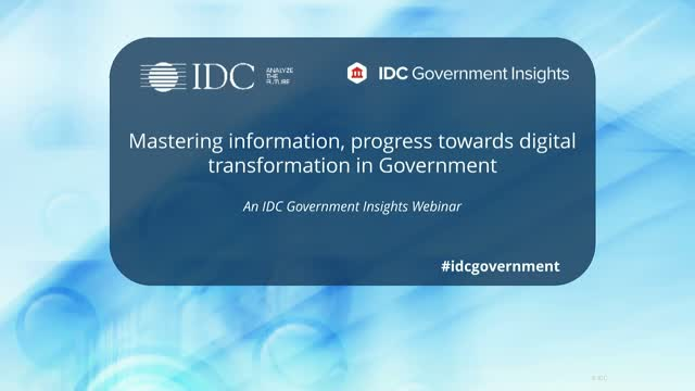 How can Governments' Master Digital Transformation?