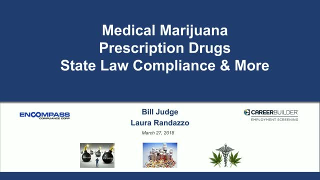 Marijuana, Opioids and State Laws – What HR Teams Need to Know