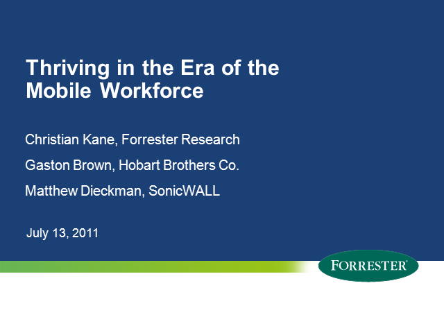 Thriving in the Era of the Mobile Workforce
