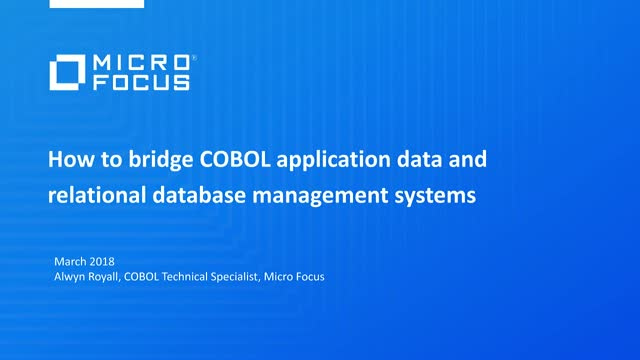 How to bridge COBOL application data and relational database management systems
