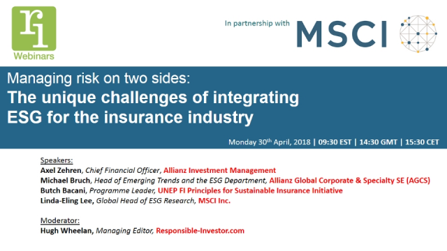 The unique challenges of integrating ESG for the insurance industry