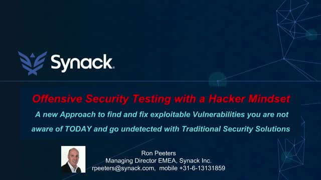 Offensive Security Testing with a Hacker Mindset