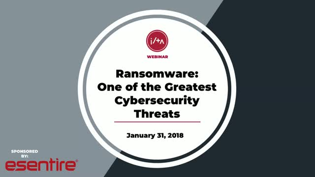 Ransomware - One of the Greatest Cybersecurity Threats