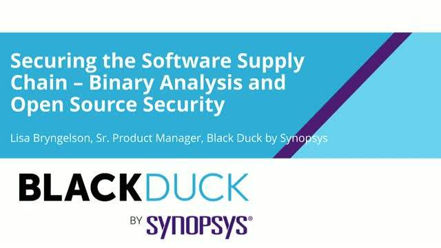 Securing the Software Supply Chain – Binary Analysis and Open Source Security