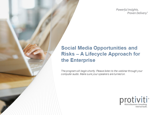 Social Media Opportunities and Risks - A Lifecycle Approach