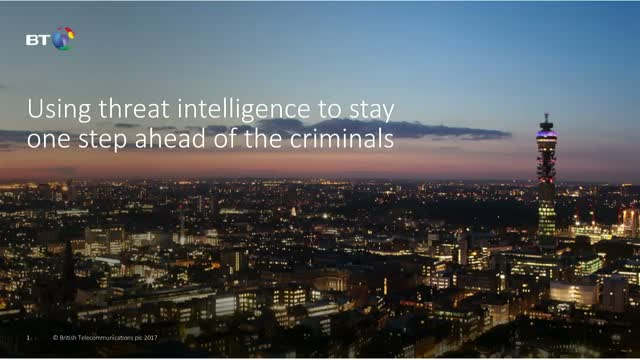 Using threat intelligence to stay one step ahead of the criminals