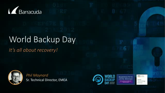 World Backup Day - it's all about Recovery
