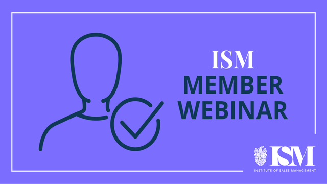 ISM Webinar: The Death of the B2B Salesperson