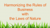 Redefining Profit: Harmonising the Rules of Business with the Laws of Nature