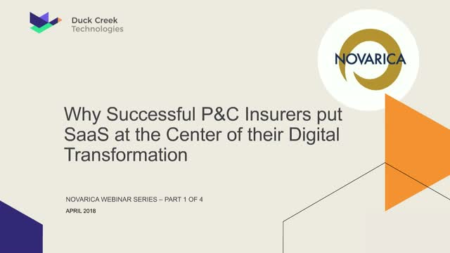 Why P&C Insurers should put SaaS at the Center of their Digital Transformation