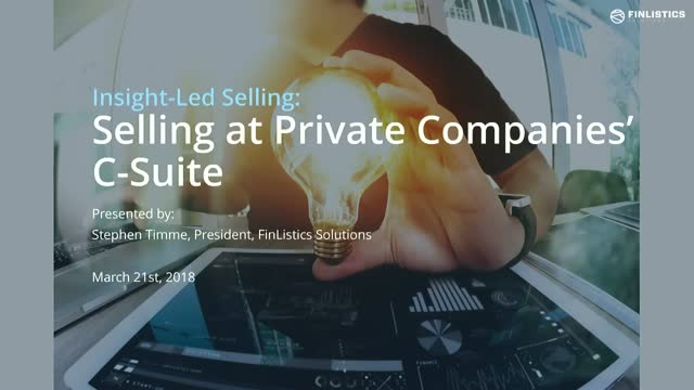 Insight-Led Selling: Selling to Private Companies' C-Suite