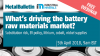 What's driving the battery raw materials market?
