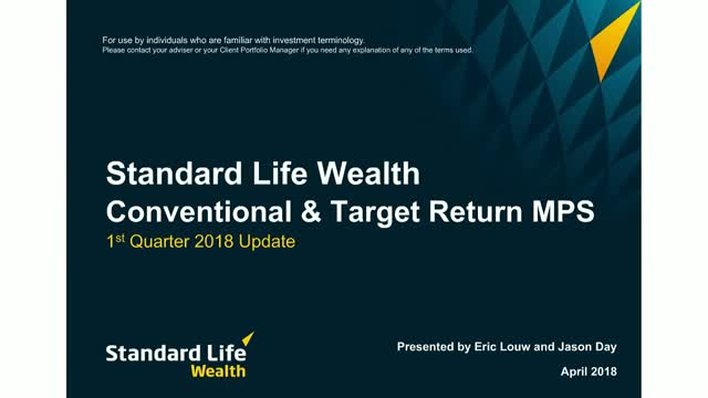 Standard Life Wealth Q1 2018 MPS update