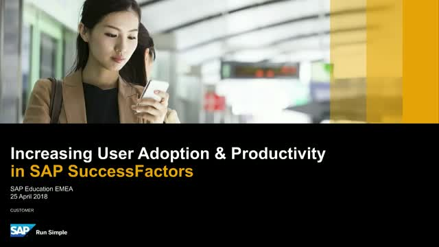 Maximise the value of your SuccessFactors solution with SAP Education