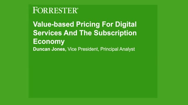 Value-Based Pricing for Digital Services and the Subscription Economy