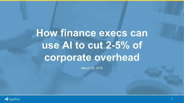 How finance execs can use AI to cut 2% of corporate overhead
