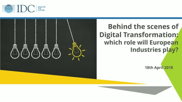 Behind the scenes of Digital Transformation: which role will EU Industries play?