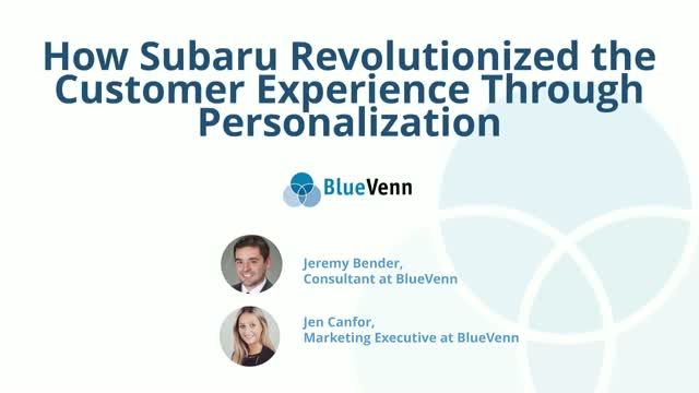 How Subaru Revolutionized the Customer Experience Through Personalization
