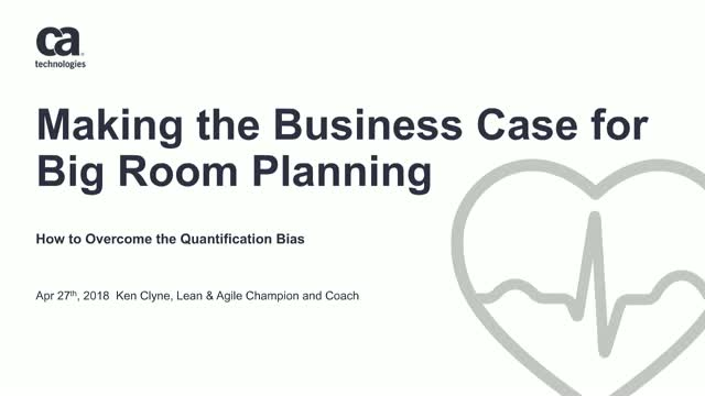 Make the Business Case for Big Room Planning: Overcome the Quantification Bias