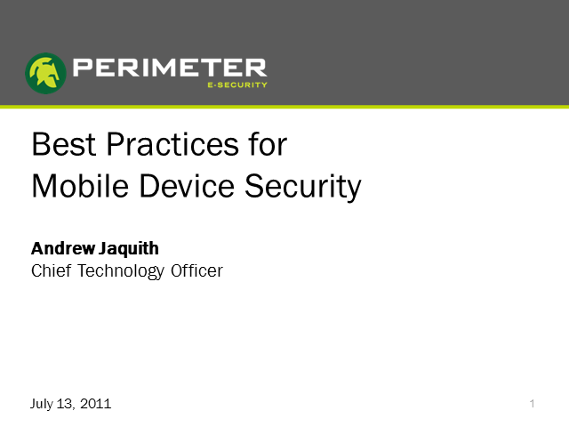 Best Practices for Mobile Security