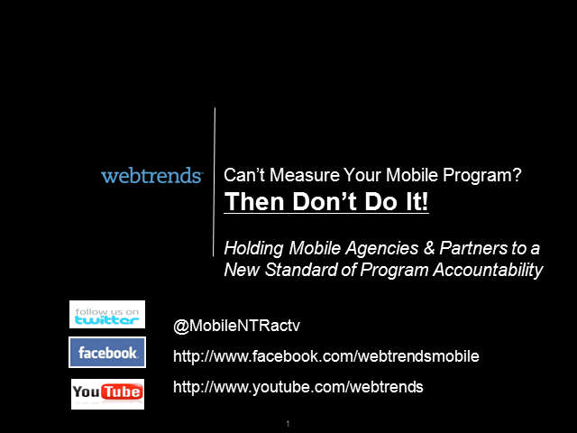 Can't Measure Your Mobile Programs?  Then Don't Do Them!