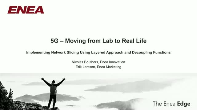 5G – Moving from Lab to Real Life