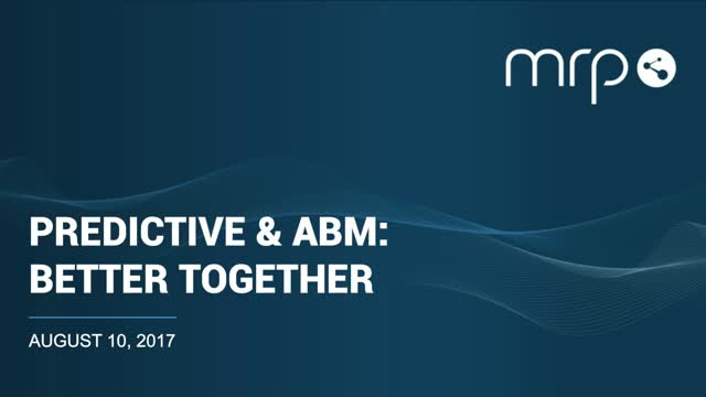 Predictive Analytics and ABM: Better Together