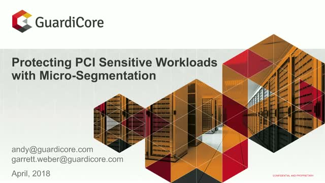 Protecting PCI Sensitive Workloads with Micro-Segmentation