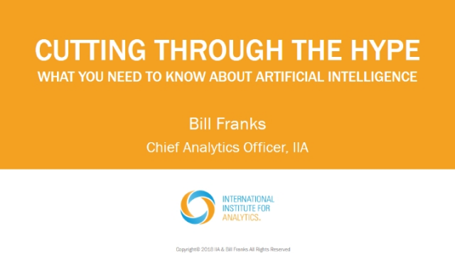 Cutting Through the Hype of Artificial Intelligence
