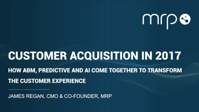 How ABM, Predictive & AI Come Together to Transform the Customer Experience