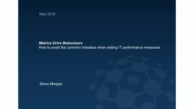 Metrics drive behaviours: How to avoid common IT metric mistakes