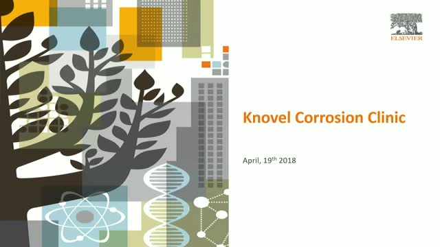 Corrosion Clinic: Solving Engineering Challenges in Corrosion Using Knovel