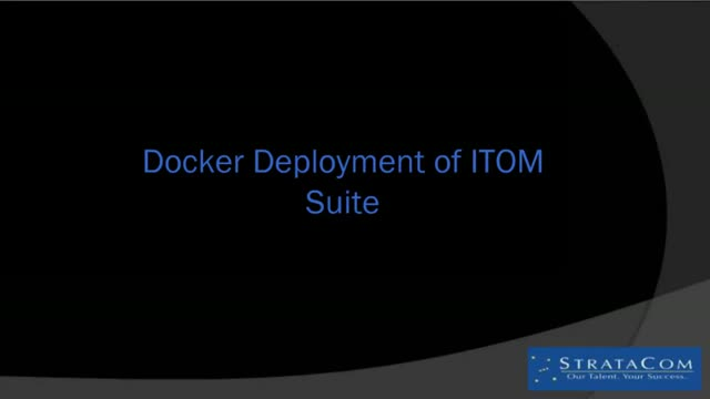 ITOps SIG Talk Ep. 1:  Micro Focus ITSMA Containers Concept