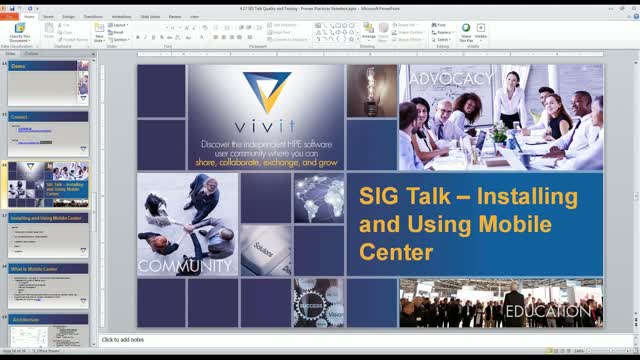 Q&T SIG Talk Ep. 14: Installing, Administering & Using Micro Focus Mobile Center