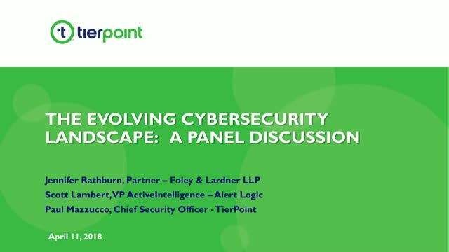 The Evolving Cybersecurity Landscape: A Panel Discussion