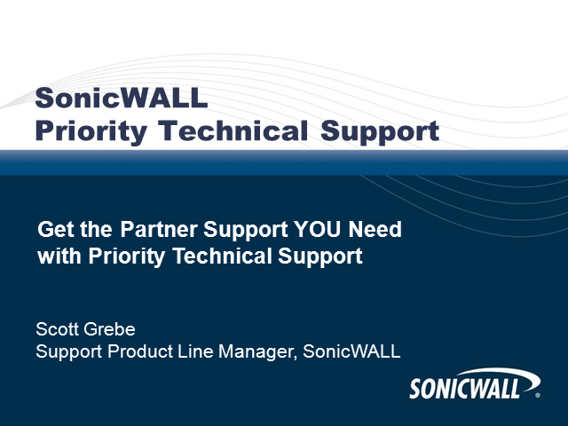 Get the Partner Support YOU Need with Priority Technical Support